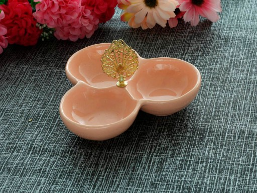 Round Triple Nuts Plate
