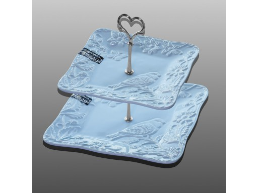 2 Tier Cake Stand Square
