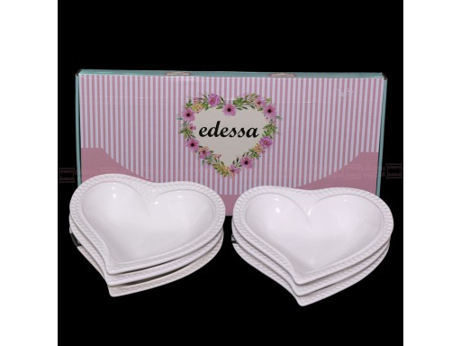 6 Pcs Small Dessert Plate heart