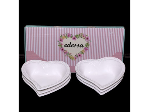 6 Pcs Food Plate Heart