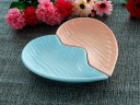 2 Pcs Heart Platter set