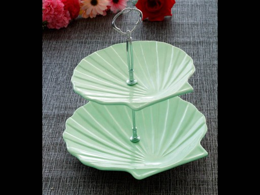 2 Tier Cake Stand Scallop