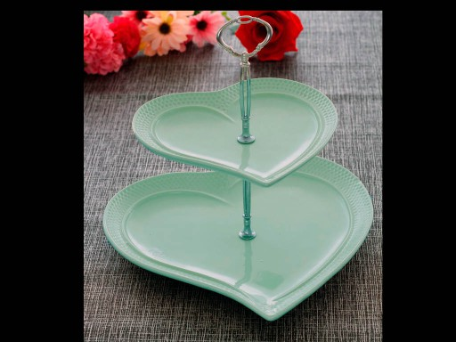 2 Tier Cake Stand Heart  No:1