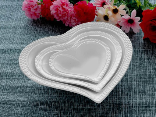 3 Pcs Fruit Bowl Set heart