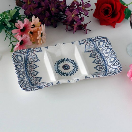 THREE SECTION DIVIDED PLATTER